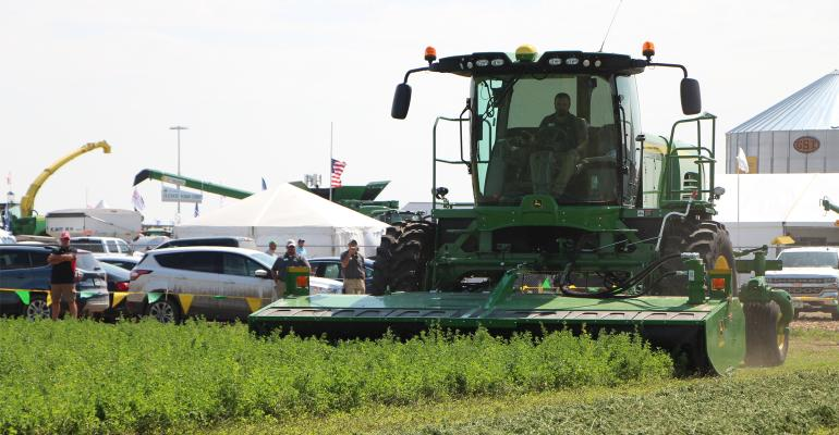 Companies show off the latest in hay equipment every day at 2 p.m. during Husker Harvest Days