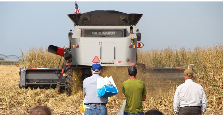 Combine in field at HHD