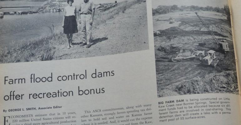 article from 1964 about farm flood control dams