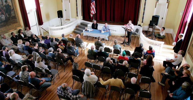 town residents hold a public debate on area issues