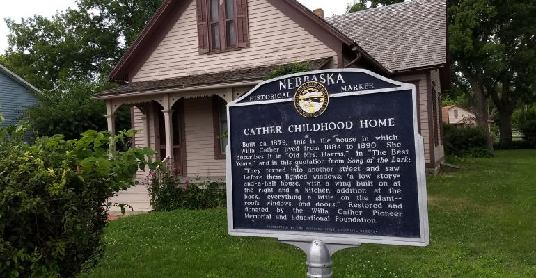 Willa Cather's family childhood home