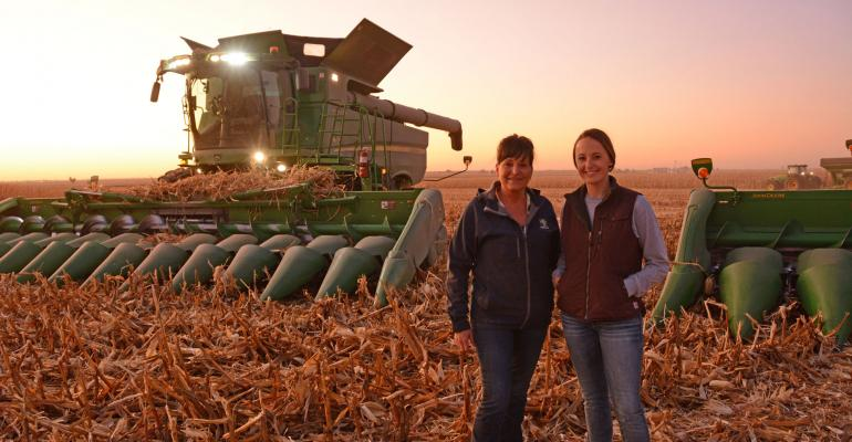 Prairie City, Ill., farmer Bridjet Blout, and her mother, Julie Blout