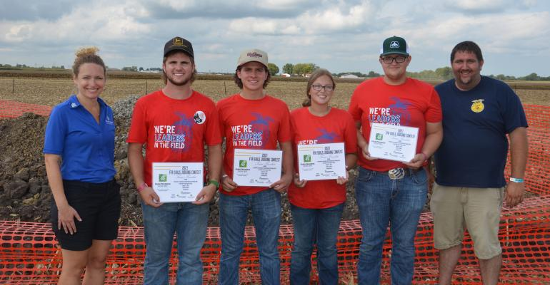first-place soils judging team from South Central High School at Farm Progress Show