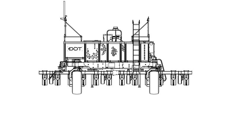 line diagram of planter with autonomous drive unit from DOT Technology