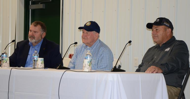 USDA Sec. Sonny Perdue  answering questions from farmers at the Saginaw Valley Research and Extension Center