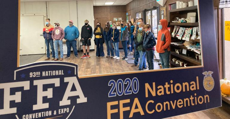 ECHS FFA members at Country Home Processing