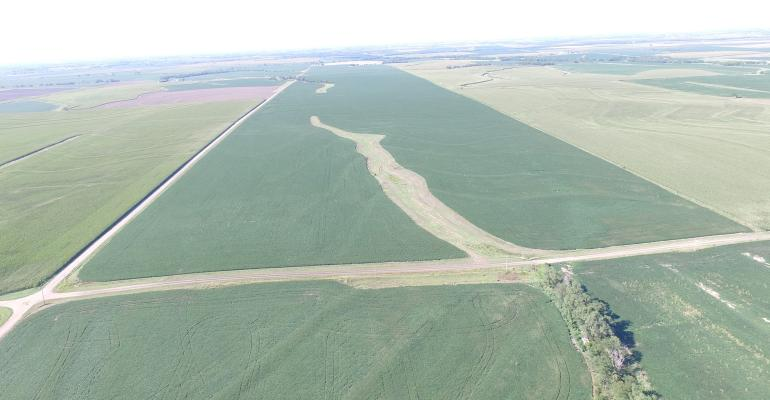 ariel photo of farmland