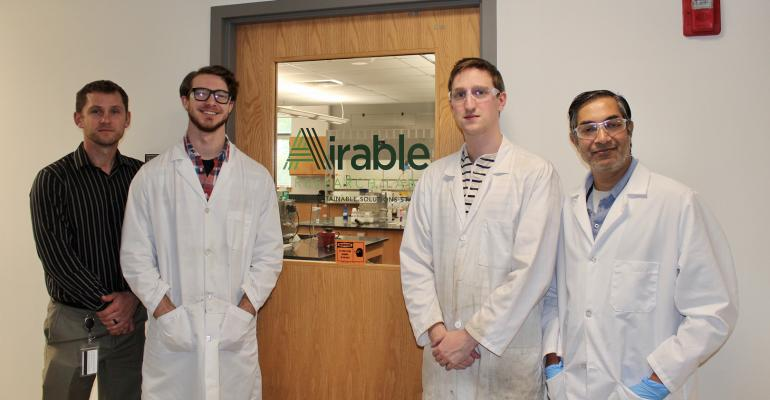 Researchers at the new Airable Research Lab Barry McGraw, Matt Nye, Ian Berner and Ram Lalgudi