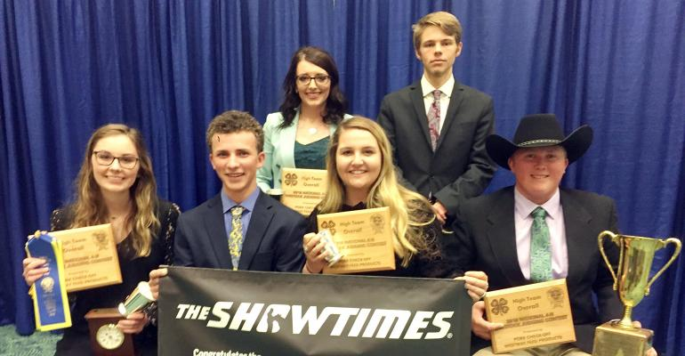 national 4-H livestock judging contest winners