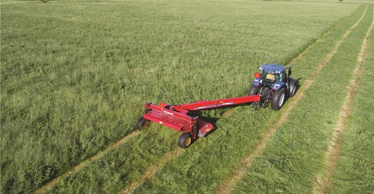 Overhead view of wide swathing