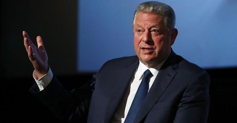 """Al Gore speaks during a Q&A following a special screening of """"An Inconvenient Sequel: Truth to Power"""" at Event Cinemas Bondi Junction on July 10, 2017 in Sydney, Australia."""