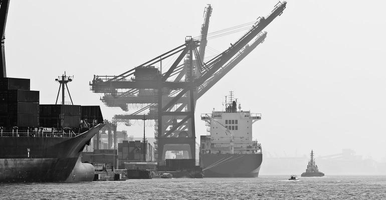 Port of Santos is located in the city of Santos, Brazil. It is the busiest container port in Latin America.