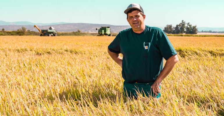 Rice grower Charley Mathews