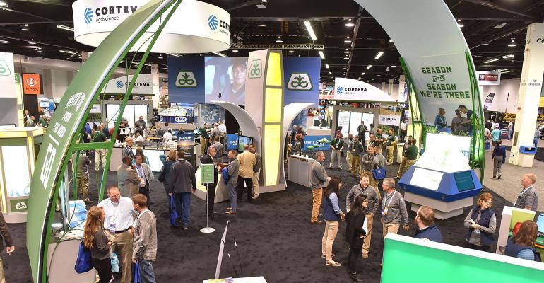trade show floor at Commodity Classic