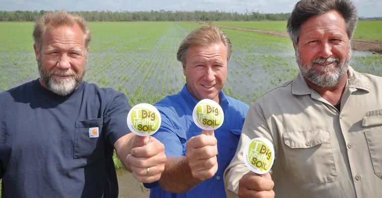 C.J., Jeff and Greg Durand agree that improving soil health is key to the long-term health of their south-central Louisiana farming operation.