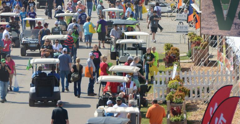 golf cars at Farm Progress Show