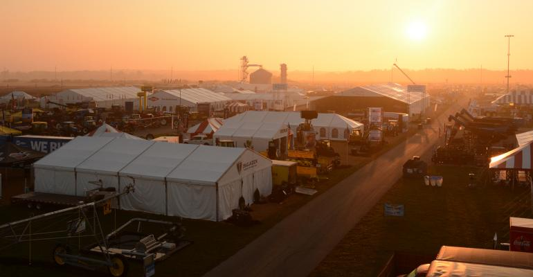 sunrise at Farm Progress Show