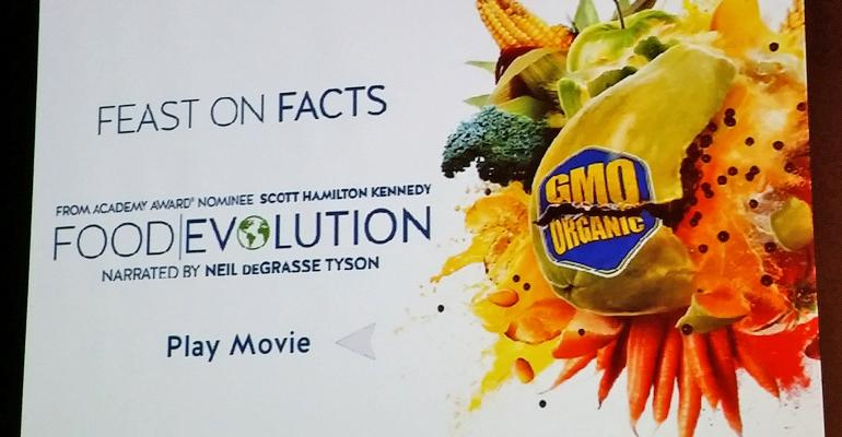 Feast On Facts Food Evolution movie title graphic