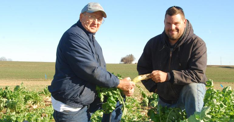 Gordon Wassenaar (left) and farming partner Will Cannon