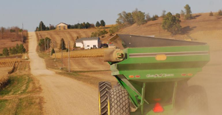 Time to unload the wagon during corn harvest at rural New Trier MN Photo by Susan Winsor