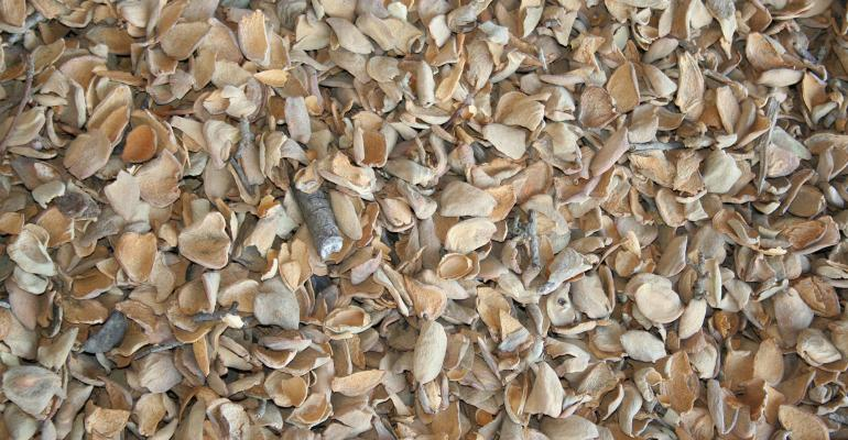 almond hulls and shells