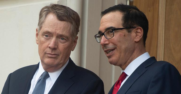 U.S. Trade Representative Robert Lighthizer, left, and Treasury Secretary Steven Mnuchin