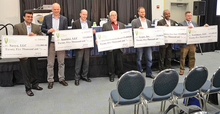 six innovators honored for their work receive giant checks