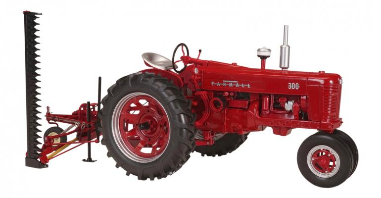 2018 Max Armstrong collectible: Farmall 300 with sickle bar mower