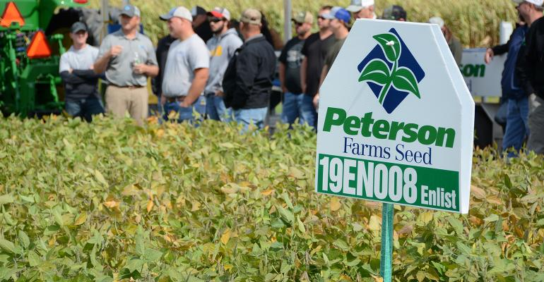 farmers at Peterson Farms Seed field day