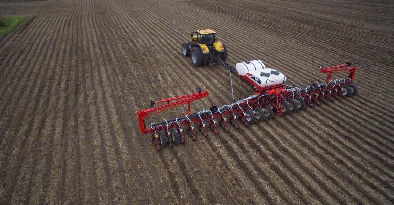 Aerial view of Challenger 100 Series White Planter