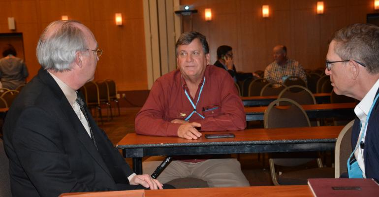 Bobby Coats and Nathan Childs answer questions at Rice Outlook Conference