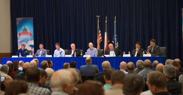 """House Agriculture members heard from Texas farmers, ranchers and others affected by farm bill programs at a """"listening session"""" on the campus of Angelo State Unversity in San Angelo. """"We need your input,"""" said  Ag committee Chairman Mike Conaway."""