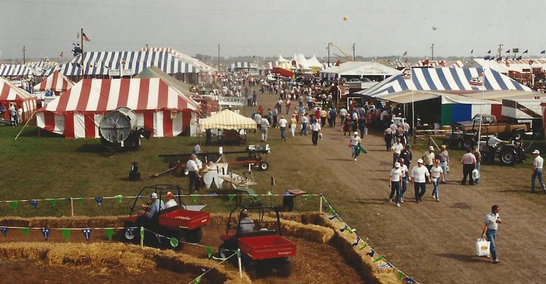 A scene from Husker Harvest Days in the 1980s