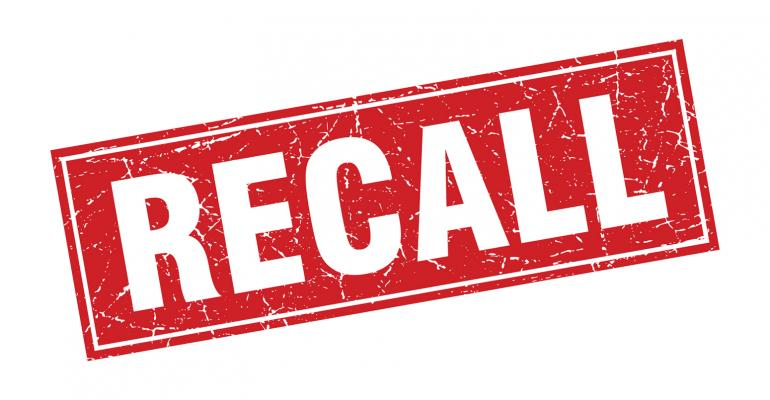 recall stamped in red for product recall
