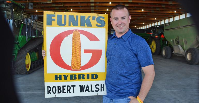 Robert Walsh with Funk's G sign