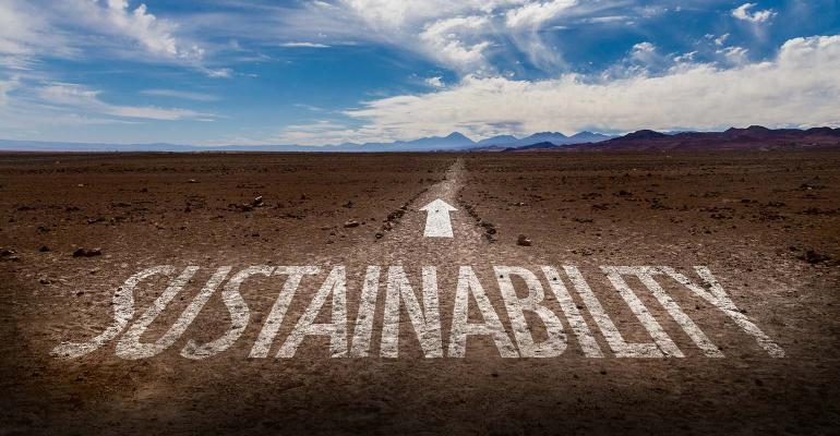 Sustainability arrow