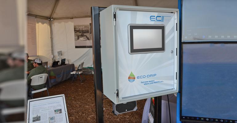 irrigation system control box