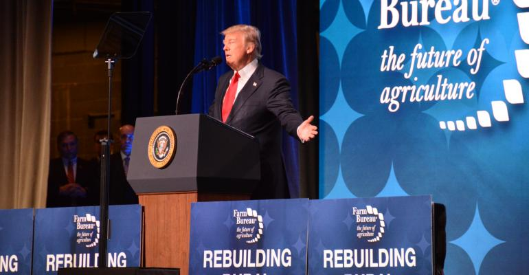 Donald Trump at Farm Bureau annual convention 2018
