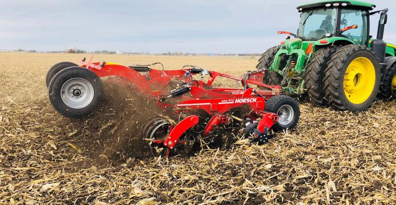 tillage equipment in field
