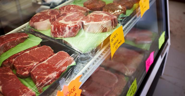 beef cuts meat counter