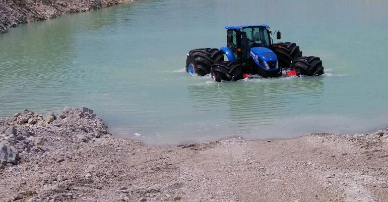 Tractor demo on water