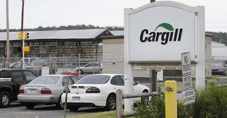 Cargill sign and parked cars