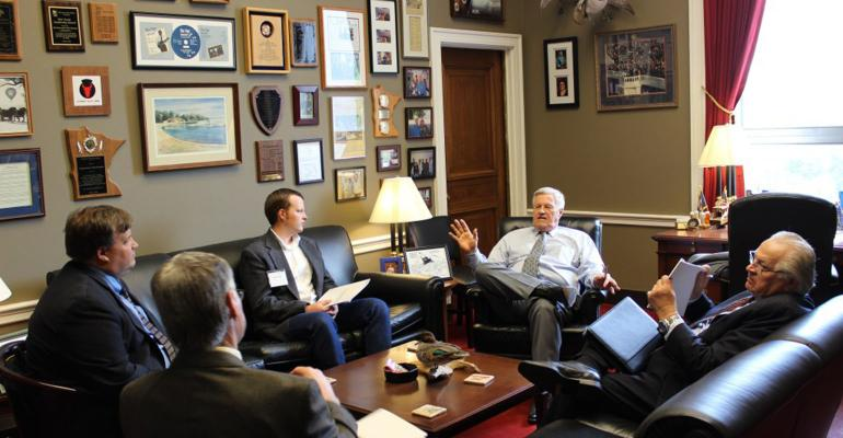 MN Farmers Union members meet with Rep Collin Peterson