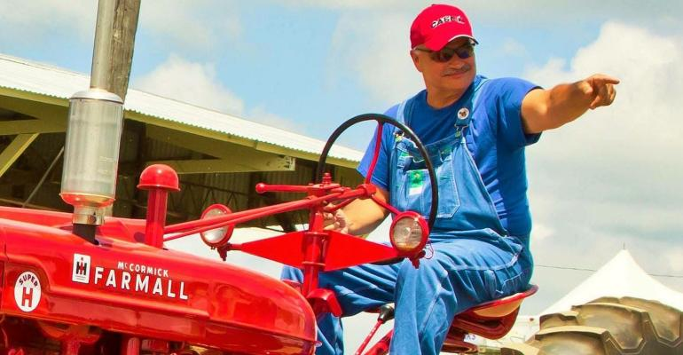 Max Armstrong on his Super H tractor