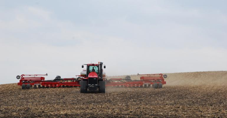 Frans and Jason Rosenquist plant with a 36row Case IH planter Grove City MN