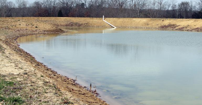 Evaporation can lower pond water level several feet during the summer, exposing habitat and concentrating fish.