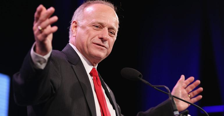 SteveKing at a podium