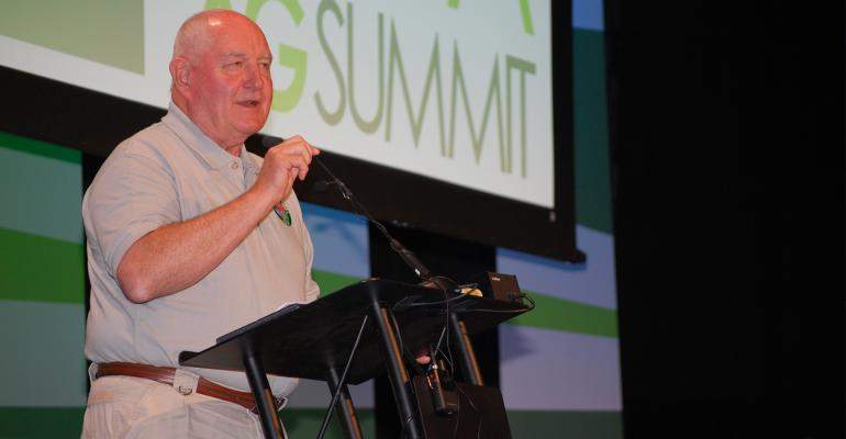 U.S. Secretary of Agriculture Sonny Perdue speaking at ag summit