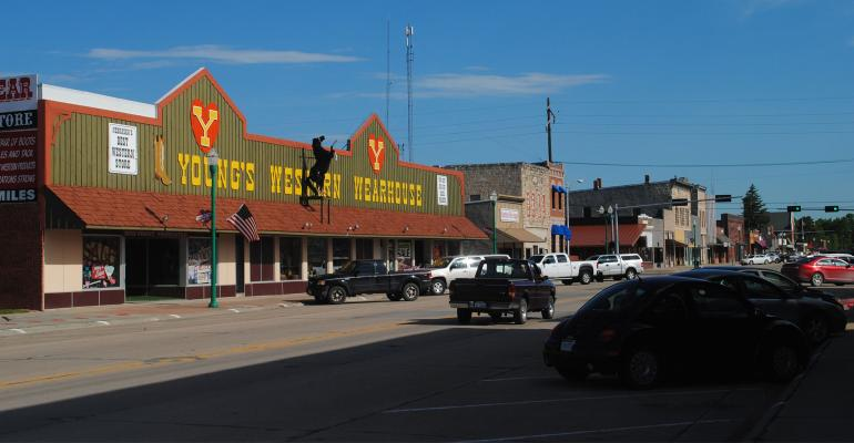 young's western wearhouse on Main street in Valentine