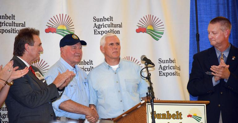 Mike Pence with Sonny Perdue